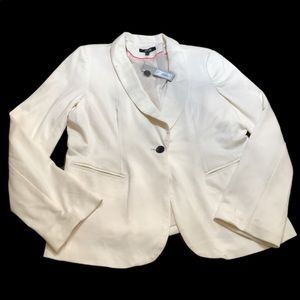 Apt. 9 Large White Blazer NWT Business Button UP